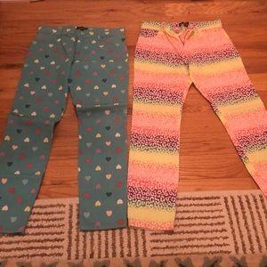 Lot of Two girls size 12 adjustable waist pants